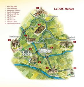 Mappa artistica del Merlara