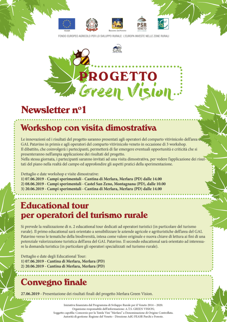 Newsletter 1 Progetto Green Vision web